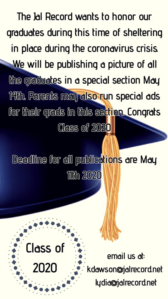 grad ad 576x1024 - Special Graduation Edition May 14th